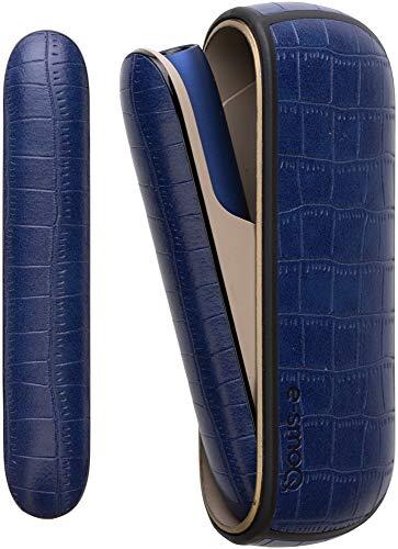 e-smoQ Funda para IQOS 3/3 Duo, funda de piel sintética, accesorio perfecto para kit de iniciación, funda de alta calidad para máxima protección contra arañazos, golpes y daños (azul)