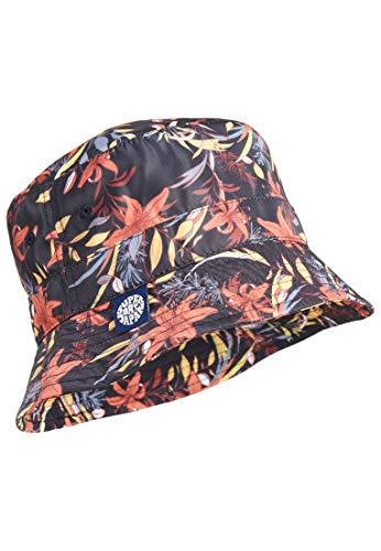 Superdry W9010104A Sombrero de Cubo, Black Lillies, M/L para Mujer