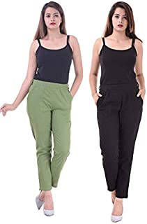 Real Bottom Women's Slim Fit Casual Trouser (Pack of 2)