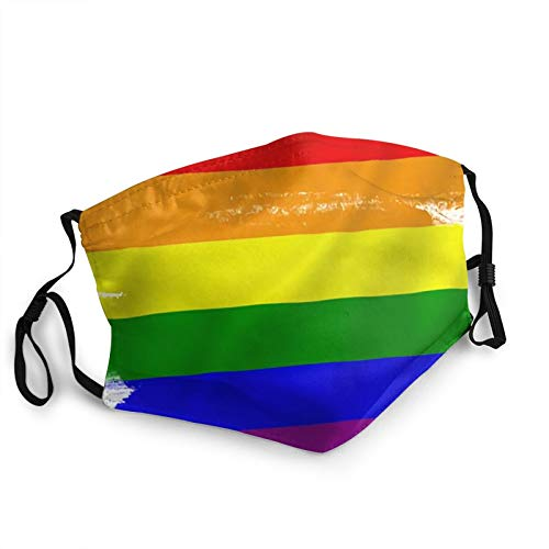CAP PILLOW HOME Mascarilla facial transpirable, gay Pride FlagDust cubierta bucal reutilizable lavable para ciclismo, camping, viajes, unisex