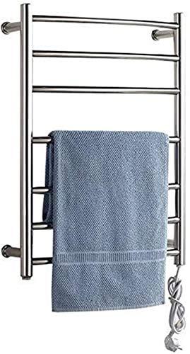 Radiador toallero eléctrico de pared, toallero de acero inoxidable 304, con interruptor impermeable, ofrece una vida cómoda y mantener