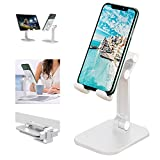 Winproo Cell Phone Stand Upgraded Phone Stand Foldable Portables Phone Holder 120°Angle Tablet Stand Height Adjustable for iphone Stand Non-slip Phone Stand for Desk for/Smartphones/ipad/Tablet/kindle