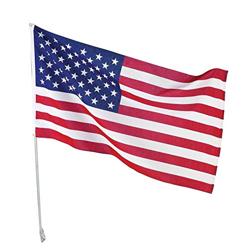 aoj 2020 Trump Flag American Flag 3x5 Feet US Flag Polyester Garden Flag with Brass Grommets Firm Stitched Indoor Outdoor Decoration Banner for Boat car(Trump)