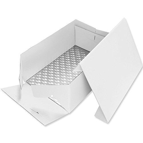 PME Tarjeta de Pastel Alargada y Caja para Pastel 15 x 11 Pulgadas   38 x 27 cm
