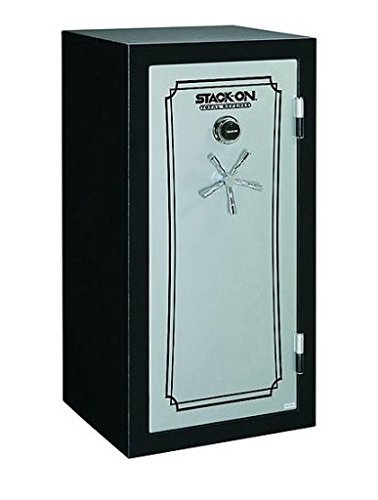 Stack-On TD14-28-GP-E-S 28-Gun with Back-Lit Electronic Lock, Gray Pebble