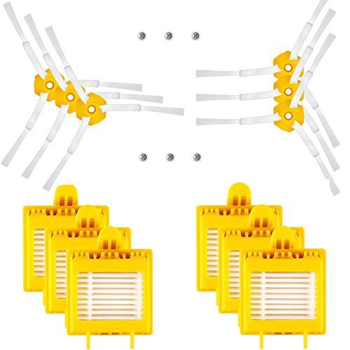 SUPON Kit de reemplazo Roomba Kit de Accesorio de reemplazo para iRobot Roomba 700 Series 700 720 750 760 770 772 774 775 776 780 782 785 786 786p 790 Repuesto del Filtro (c)