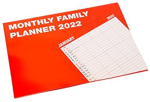 2022 Family Organiser Monthly Planner Wall Calendar – Matte Finish