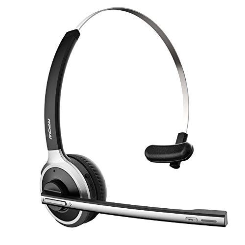 Mpow Cuffie Bluetooth con Microfono Cuffie Senza Fili con Microfono Cancellazione del rumore per PC Android iPhone Cuffie On Ear per Call Center Skype Chat Conference Call Videoconferenza Ufficio
