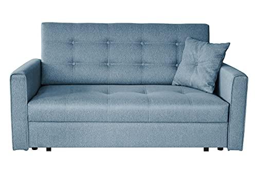 Sofa Viva Lux III mit Schlaffunktion, 3 Sitzer Polstersofa mit Bettkasten inkl. Kissen, Sofagarnitur, Schlafsofa Bettsofa Farbauswahl, Wohnlandschaft (Tatum 278)