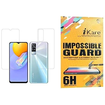 iKare Impossible Front and back Fibre Tempered Screen Guard for Vivo Y31 - Transparent (does not cover the edges)(better than tempered glass)
