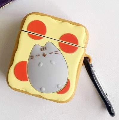 Anbel SyFor Apple-AirPods 1/2 Gen Universal Wireless Toaster Cat and Doughnut Katze Bluetooth-Kopfhörer-Schutzhülle...
