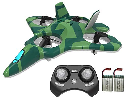 ZEGO F22 Remote Control Jet, Quadcopter Fighter Jet with 360° Flip, 2.4GHz 6-Axis Gyro Technology and 4 Blade Propellers (Green)