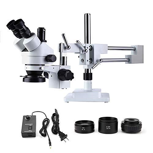 July Gifts Stereo Zoom Microscope,3.5X-90X TrinoculMicrRing Lamp 100-240V(#2)