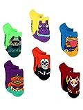 Fortnite Battle Royale Gamer Boy's Girl's Teen Adult 6 pack No Show Socks (Shoe: 4-10 (Sock: 9-11), Green/Multi)