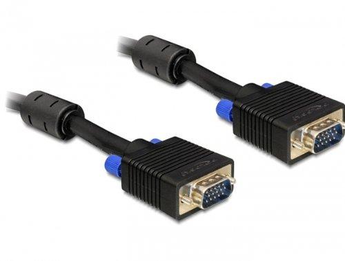 DeLOCK 2m VGA Cable Cable VGA VGA (D-Sub) Negro - Cables VGA (2 m, VGA (D-Sub), VGA (D-Sub), Negro, Male Connector/Male Connector)
