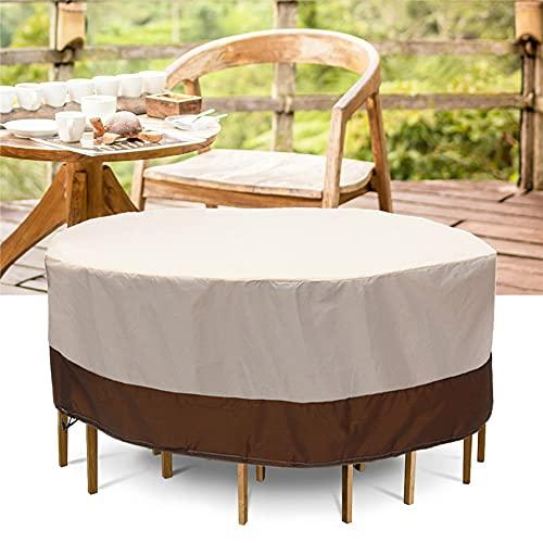 Copertura per mobili da giardino, 188 x 84 cm, impermeabile, antivento, rotonda, per tavolo da giardino, in tessuto Oxford 210D, copertura per mobili da giardino
