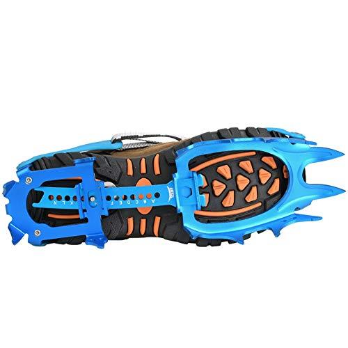Crampones de los Picos de Escalada, Tacos Antideslizantes de tracción para la Nieve al Aire Libre, para Caminar Escalada en Hielo((43.5 Yards Blue))