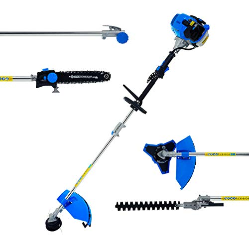 SGS 52cc 5in1 Multi Tool Garden Set: Chainsaw Trimmer Strimmer Brush Cutter