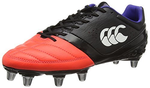 Canterbury 2016 Phoenix Club 8 Stud Mens Training Rugby Boots Black/Firecracker 10UK