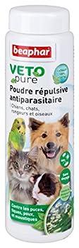 Beaphar - VETOpure, poudre répulsive antiparasitaire - chien, chat, oiseau et rongeur