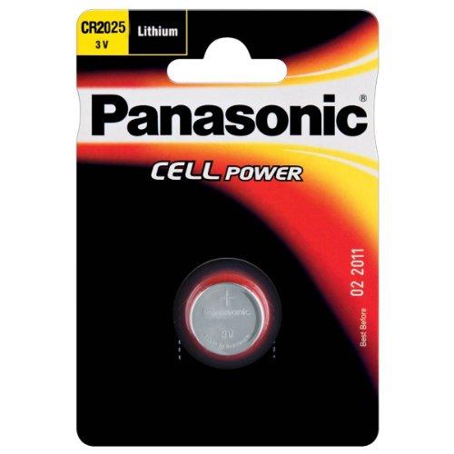 Panasonic Lithium Knopfzelle CR2025L/1BP Einwegbatterien