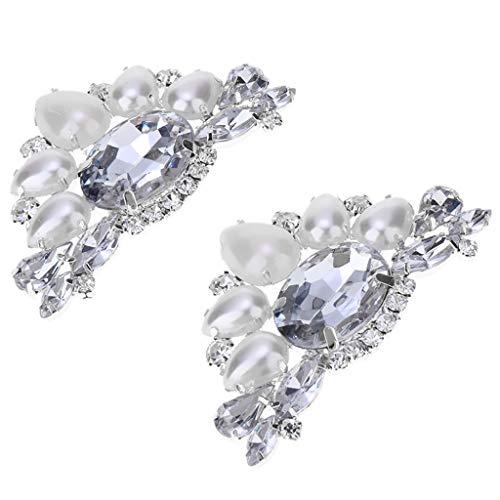 F Fityle 2 Unidades Clip Zapatos Novia Diamantes Imitación