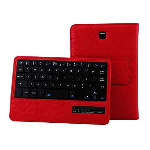 YEYOUCAI Accesorios para tabletas para Galaxy Tab S2 8.0 T710 / T715 2 en 1 Teclado Bluetooth Desmontable Funda de Cuero con Textura Litchi con Soporte