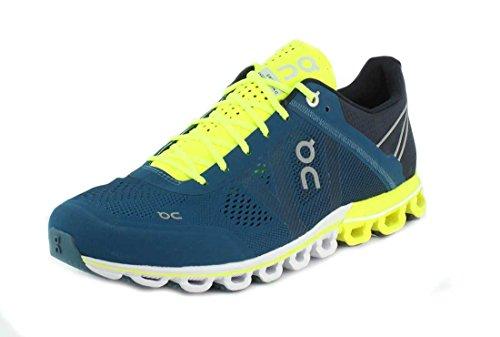 On Running Cloudflow Herren-Sneaker, Blau (Petrol/Neon), 41 EU
