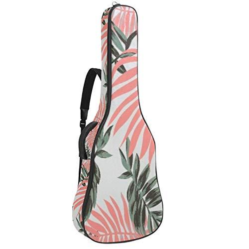 Funda impermeable para guitarra con patrón de flores y correa ajustable para el hombro