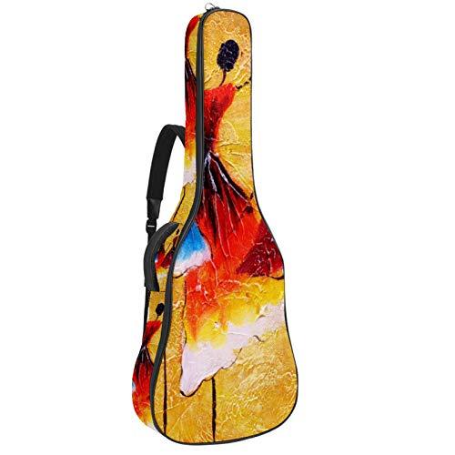 Bennigiry Bolsa de guitarra para guitarrista de baile español, para guitarrista