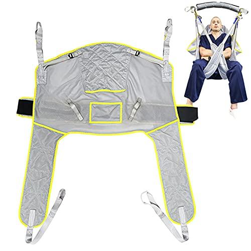 Arnes Grua Traslado Enfermos Personas Mayores, Cinturón de Transferencia Paciente Cuerpo Complet, Transferencia de la Cama a la Silla de Ducha y al Inodoro, Carga-230kg ⭐