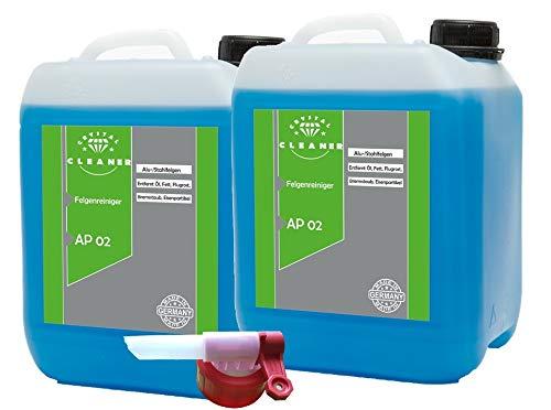 Cleanerist 2x10 Liter Felgenreiniger für Alufelgen Stahlfelgen säure freiinkl. Sabeu FLUXX® Auslaufhahn