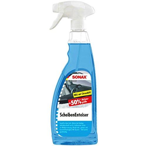 Sonax Auto-Scheiben-Enteiser-Spray, Scheiben-Reiniger, Auto-Klarsicht, 750 Ml, Sprühflasche, Blau