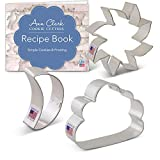 Ann Clark Cookie Cutters 3-Piece Day and Night Sky Cookie Cutter Set with Recipe Booklet, Sun, Moon