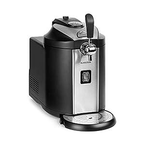 Klarstein Beerkules Dispensador de cerveza, barriles de 5 l, CO2, incl. 3 cartuchos, refrigeración de 2-12 °C, enfriamiento en sólo 4 h, 120 W, carcasa: plástico y acero inoxidable, negro