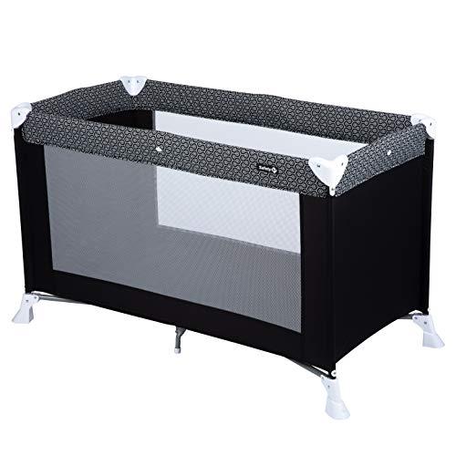 Safety 1st Soft Dreams Cuna de viaje plegable y portátil, adecuada para viajar, para bebés y niños 0 meses - 3 años, plegado compacto con bolsa de transporte, color Geometric