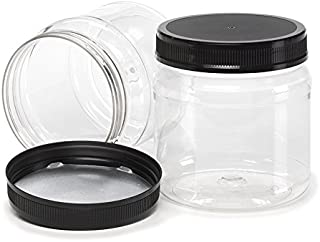 clear plastic wide mouth jars