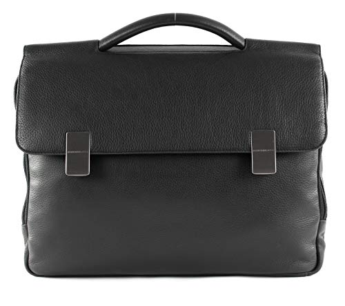 Mandarina Duck Detroit Leather Briefcase Black