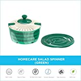 Homecare Stylish Plastic Vegetables & Salad Spinner Cleaner Dryer with Multi-Functioning Rotating...