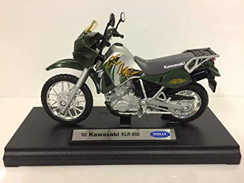 2002 Kawasaki KLR 650 [Welly 12170], Vert, 1:18 Die Cast