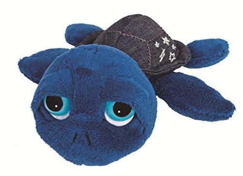 Suki Gifts 14296 - Schildkröte Mo mit Jeanspanzer, 15 cm, blau