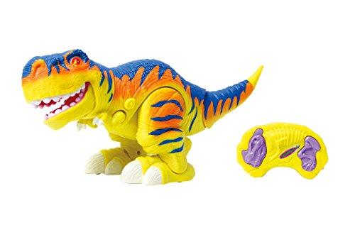 410035 Bruni Dinosaurier 2,4G mit rot leuchtenden Augen, Lauffunktion mit Stampfgeräuschen und Kopfbewegung