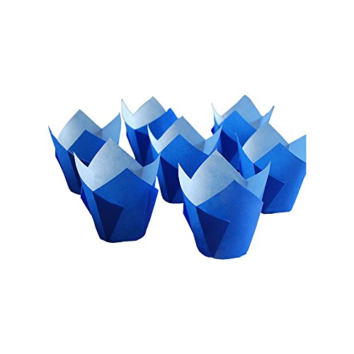 Originals Group Royal Tulip Muffin Cupcake Baking Paper Liners baking cups 100 pc. (100, Blue)