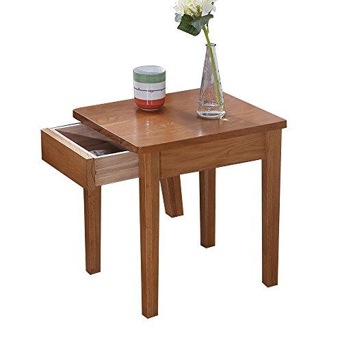 Tables de chevet Cabinet de Chevet en Bois Massif de chêne Blanc Pur Chevet Armoires de Meubles de Chambre à Coucher en Bois Massif