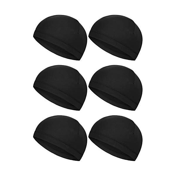 Boao 6 Pieces Helmet Liner Skull Caps Sweat Wicking Cap Running Hats Cycling Skull...