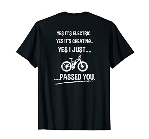 Funny E-Bike T-shirt Yes It's Electric