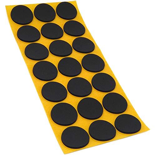 21 x Antirutsch Pads aus EPDM/Zellkautschuk | rund | Ø 30 mm | Schwarz | selbstklebend | Rutschhemmende Pads inTop-Qualität (2.5 mm)