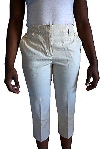 TALBOTS Heritage Womens Khaki Crop Capri Pants Size 8 Petite