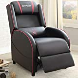 Homall Gaming Recliner Chair Racing Style Single Living Room Sofa Recliner PU Leather Recliner Seat...