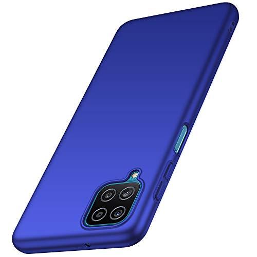 anccer Funda Samsung Galaxy A12 5G, Ultra Slim Anti-Rasguño y Resistente Huellas Dactilares Totalmente Protectora Caso de Duro Cover Case para Samsung Galaxy A12 5G (Azul)